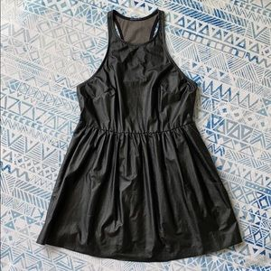 UO Black Faux Leather Top